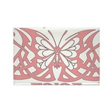 TribeButterfly1pink Rectangle Magnet