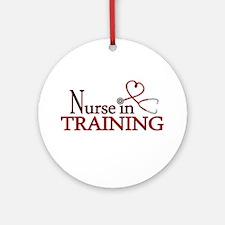 Nurse in Training Ornament (Round)