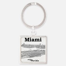 PortOfMiami_10x10_apparel_BlackOut Square Keychain