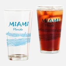 PortOfMiami_10x10_apparel_LightBlue Drinking Glass