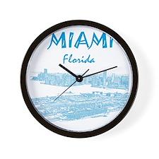 PortOfMiami_10x10_apparel_LightBlueOutl Wall Clock