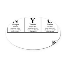 NYC White BG +Logo Oval Car Magnet
