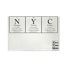 NYC White BG +Logo Rectangle Magnet