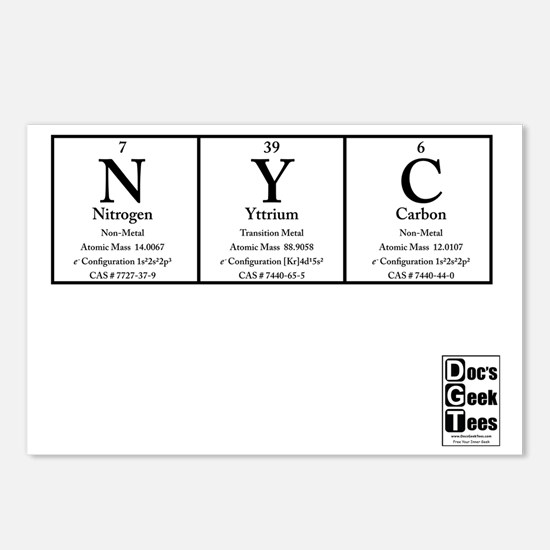 NYC White BG +Logo Postcards (Package of 8)