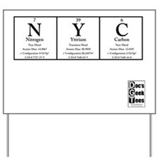 NYC White BG +Logo Yard Sign