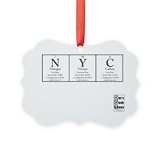 NYC White BG +Logo Ornament