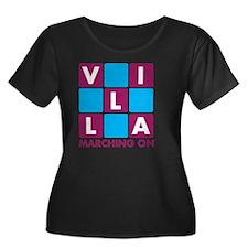 aaa4 Women's Plus Size Dark Scoop Neck T-Shirt
