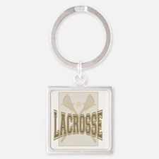 LACROSE antique Square Keychain