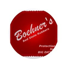 """Boehners Rubbers.gif 3.5"""" Button"""
