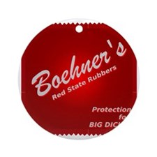 Boehners Rubbers.gif Round Ornament