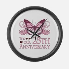 25th Wedding Aniversary (Butterfly) Large Wall Clo