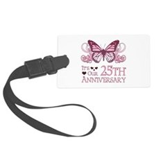 25th Wedding Aniversary (Butterfly) Luggage Tag