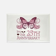 25th Wedding Aniversary (Butterfly) Rectangle Magn