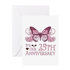 25th Wedding Aniversary (Butterfly) Greeting Card