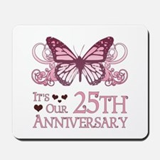 25th Wedding Aniversary (Butterfly) Mousepad