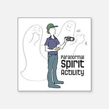 "ghosts-with-investigator Square Sticker 3"" x 3"""