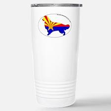 Arizona State Flag Golden Retri Travel Mug
