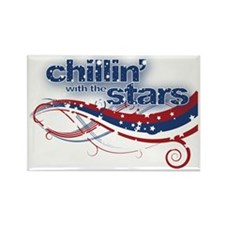 chillinwiththestars.gif Rectangle Magnet