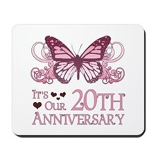 20th Wedding Aniversary (Butterfly) Mousepad