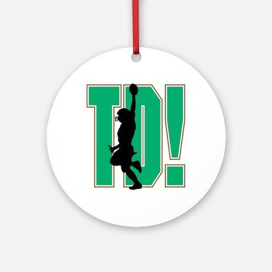 Touchdown Green Logo Ornament (Round)