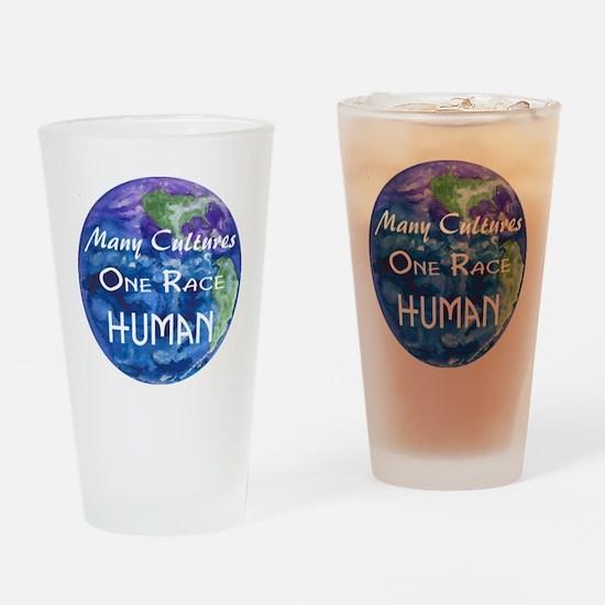 Earth illustration Drinking Glass