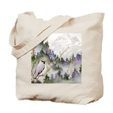 waxwingSQUARE Tote Bag