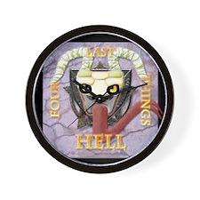 FLT-Hell-10x10_apparel Wall Clock