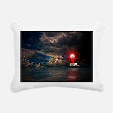 new lighthouse framed Rectangular Canvas Pillow