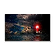 new lighthouse framed Car Magnet 20 x 12