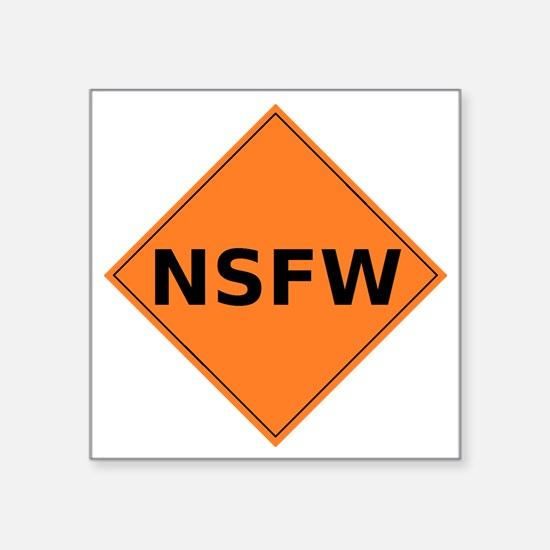"caution sign Square Sticker 3"" x 3"""