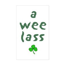 a wee lass Rectangle Decal
