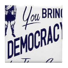 Democracy Light Tile Coaster