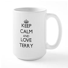 Keep Calm and Love Terry Mugs