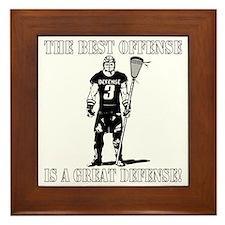 Lacrosse_BestDefense Framed Tile