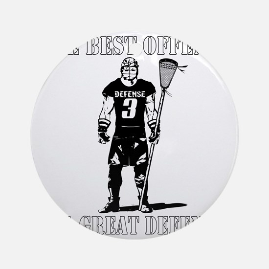 Lacrosse_BestDefense Round Ornament