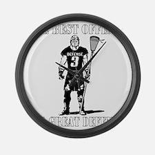 Lacrosse_BestDefense Large Wall Clock