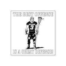 "Lacrosse_BestDefense Square Sticker 3"" x 3"""