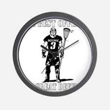 Lacrosse_BestDefense Wall Clock