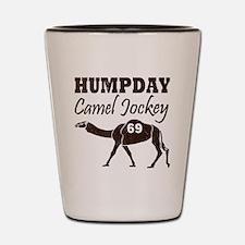 Vintage Hump Day Camel Jockey Shot Glass