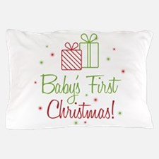Baby's First Christmas Pillow Case