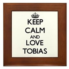 Keep Calm and Love Tobias Framed Tile