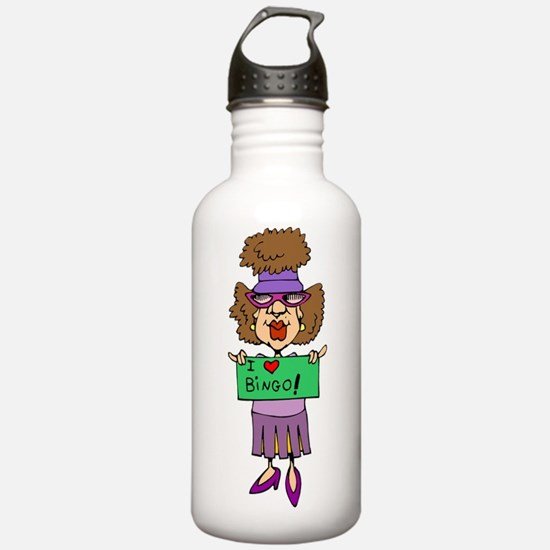 bingo-mama1-blk-bg Water Bottle