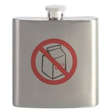 No Milk with writing black Flask