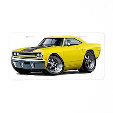 1970 Roadrunner Yellow-Blac Aluminum License Plate