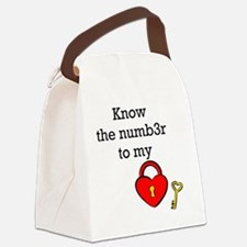 Know the numb3r to my heart Canvas Lunch Bag