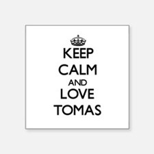 Keep Calm and Love Tomas Sticker