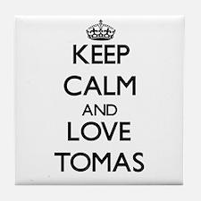 Keep Calm and Love Tomas Tile Coaster