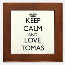 Keep Calm and Love Tomas Framed Tile