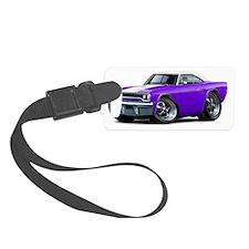 1970 Roadrunner Purple-White Top Luggage Tag