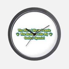 Like My Spaniel Wall Clock